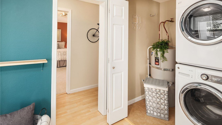 Large laundry closet in the unit.