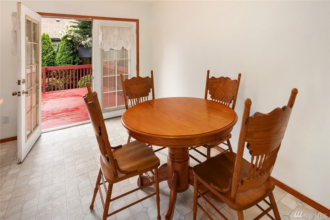 Dining area and direct access to the huge deck and backyard