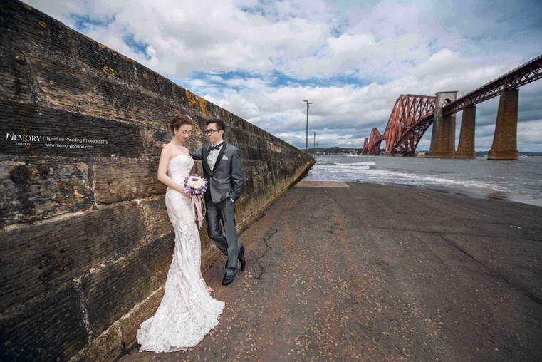 爱丁堡福斯桥婚纱照 苏格兰旅拍