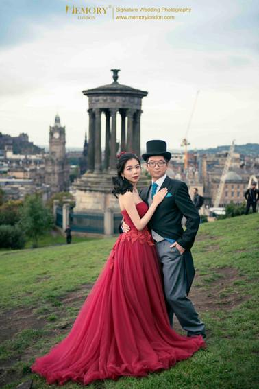 爱丁堡卡尔顿山婚纱照 苏格兰旅拍