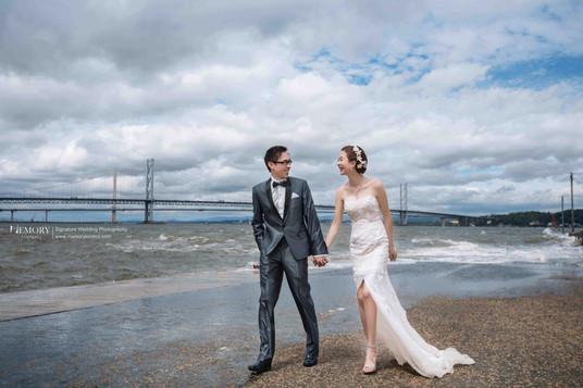 爱丁堡海景婚纱照 苏格兰旅拍