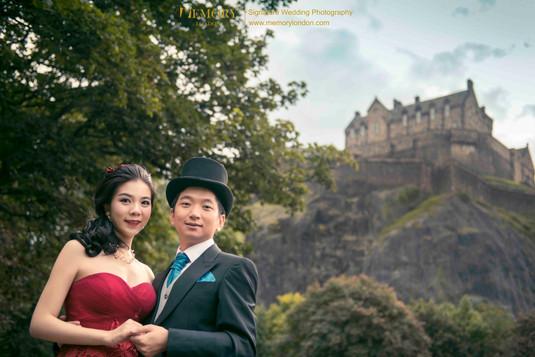 爱丁堡城堡婚纱照 苏格兰旅拍