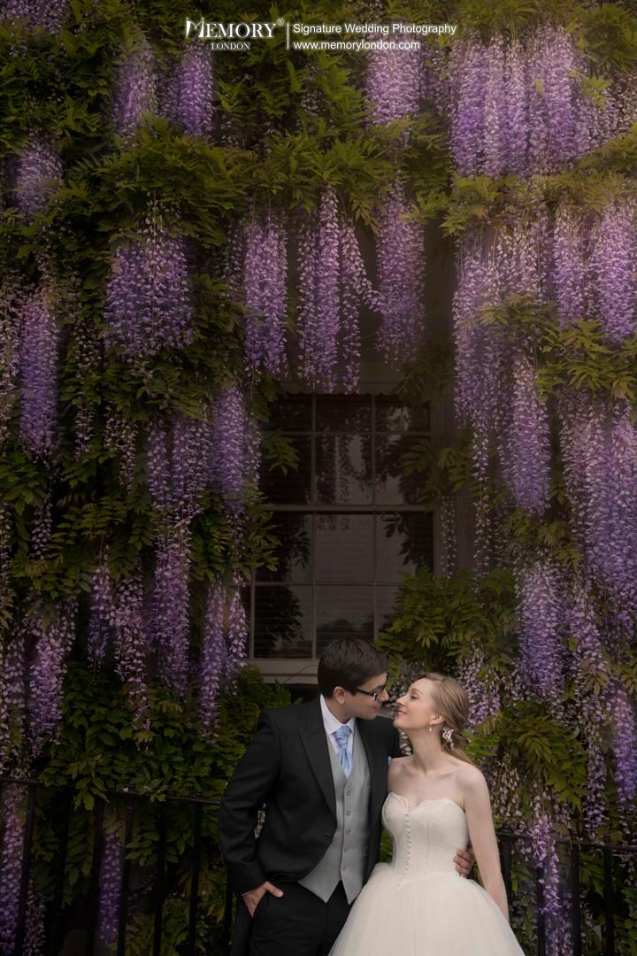 英国紫藤花婚纱照 英国旅拍