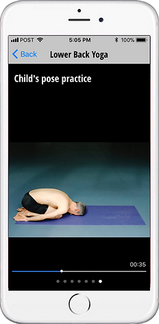 Free yoga app for low back pain