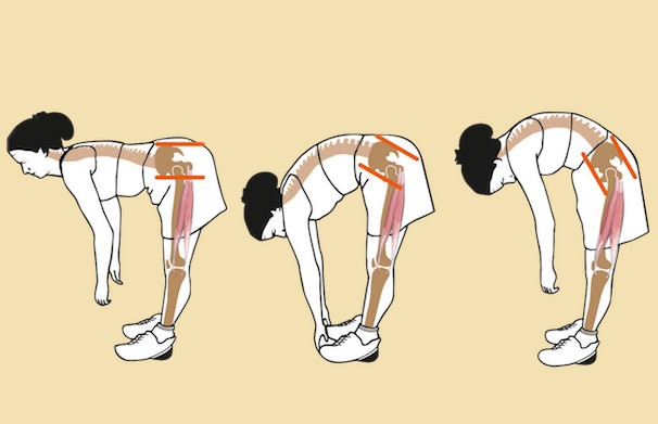 Bending with back pain