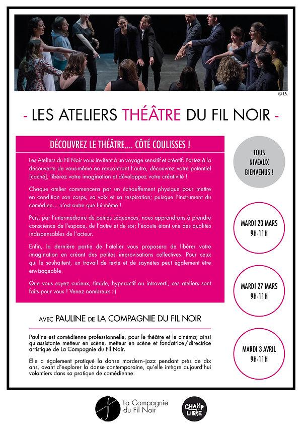 Flyer - Atelier théâtre - Centre Pénitentiaire Francilien Sud de Réau