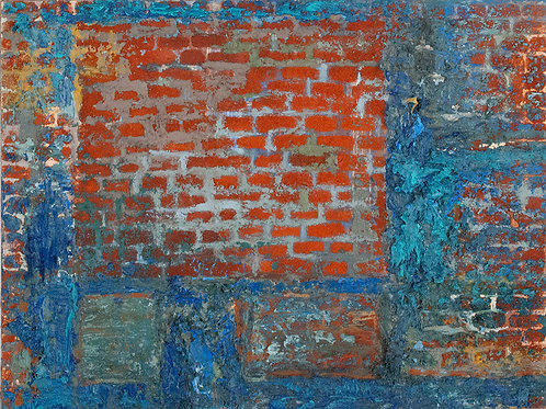 Blue Bricked Window
