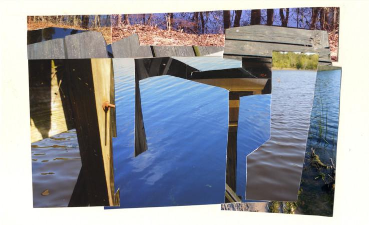 Useless Dock Collage, Horizontal Blue
