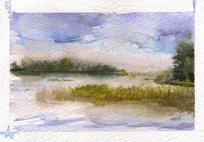 Grass Island Fog 2