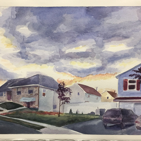 Watercolor: Two-Point Perspective