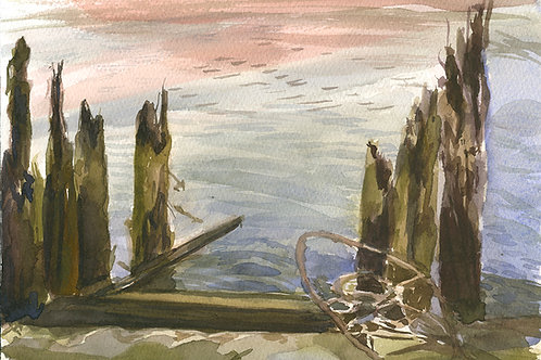 Delaware River Pilings and Cable