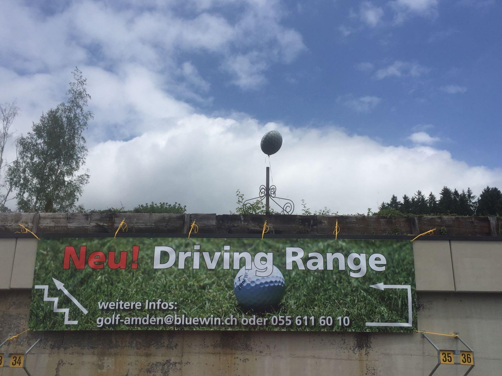 Provisorische Driving Range