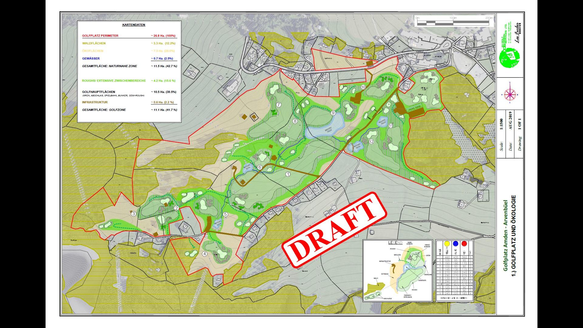 Golfplan Entwurf