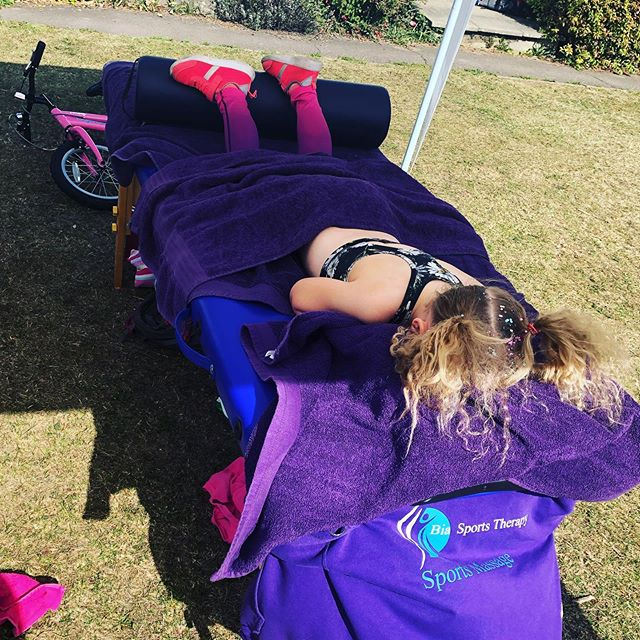 Event massage at the Pleshey Half Marath