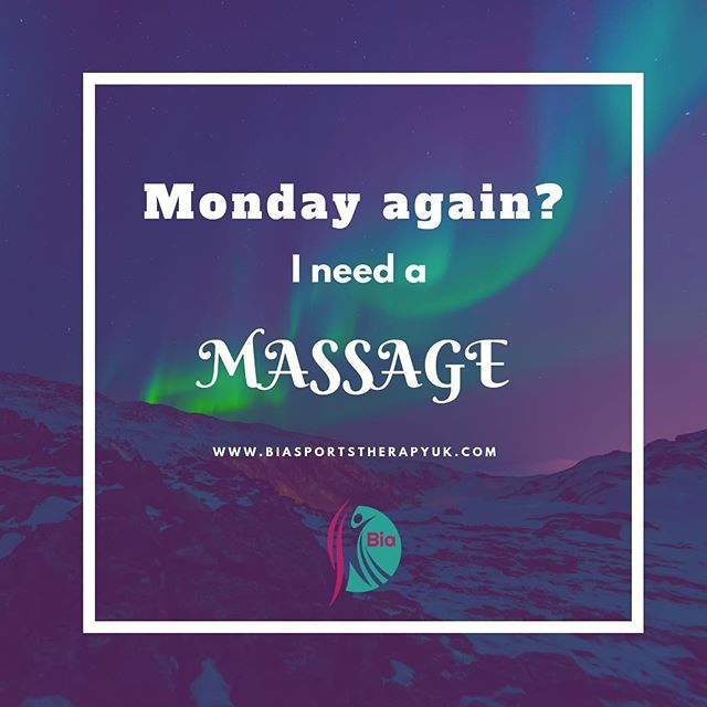It's #massagemonday and the schedule is