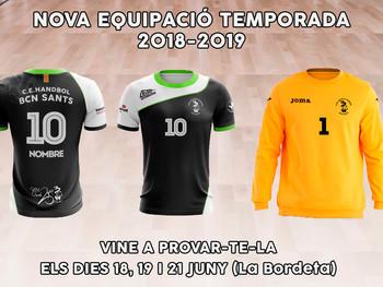 Nova equipació temporada 2018-2019