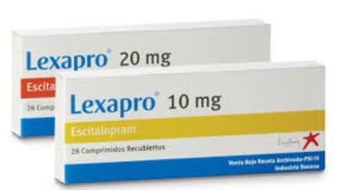 Tratamento com Escitalopram, Lexapro, Reconter, Exodus, Esc, Escilex, Espran, Eudok, Deciprax.