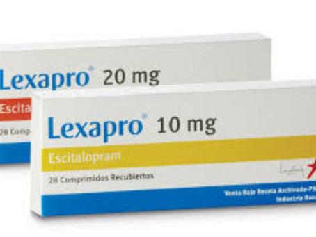 Tratamento com Lexapro, Reconter, Exodus, Esc, Escilex, Espran, Eudok, Deciprax, Eficentus.