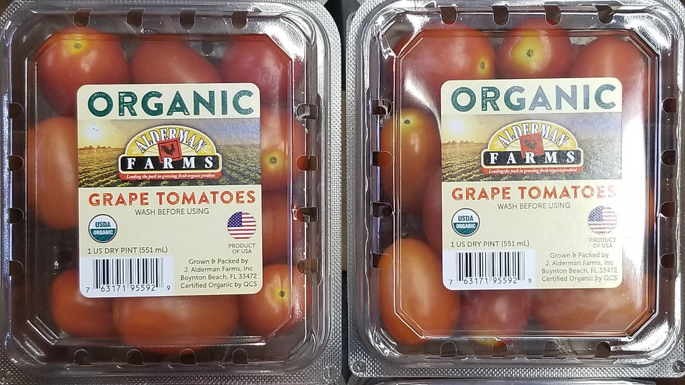 1 Case Organic Grape Tomatoes (12 Pints)