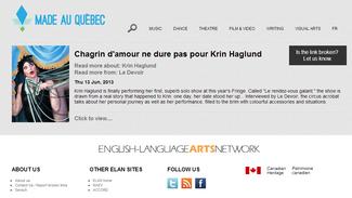 Krin Haglund featured on MADE AU QUÉBEC