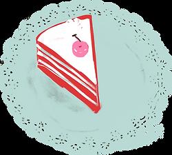 ケーキのスライス