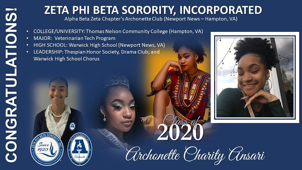 2020 Archonette Seniors - Charity Ansari