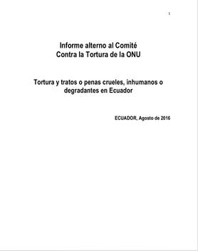 Informe Sombra para el Comité de la Tortura 2016