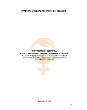 Informe Sombra para el Comité de Derechos del Niño sobre violencias contra las niñas 2016