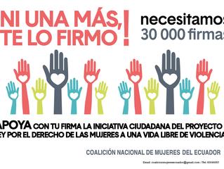 Campaña #NiUnaMasTeLoFirmo
