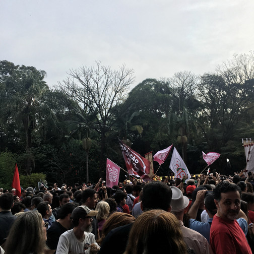 Demonstration on Avenida Paulista on 9/16