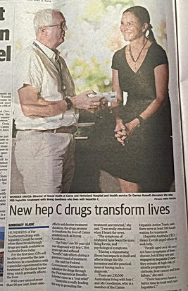 Newspaper clipping of treatment promotion