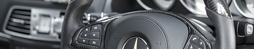 Laminated Steering Wheel/ Pure Carbon Fiber On Trim