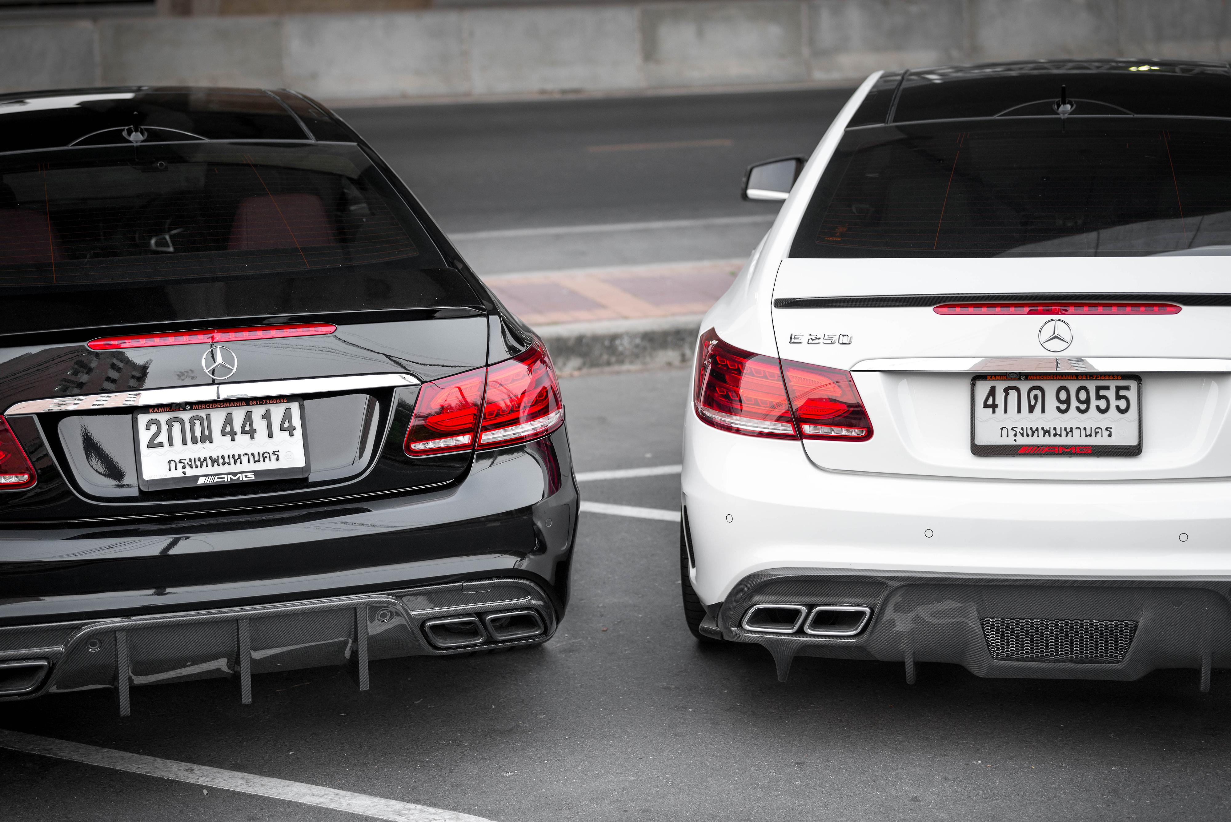 Mercedes carbon fiber rear diffuser