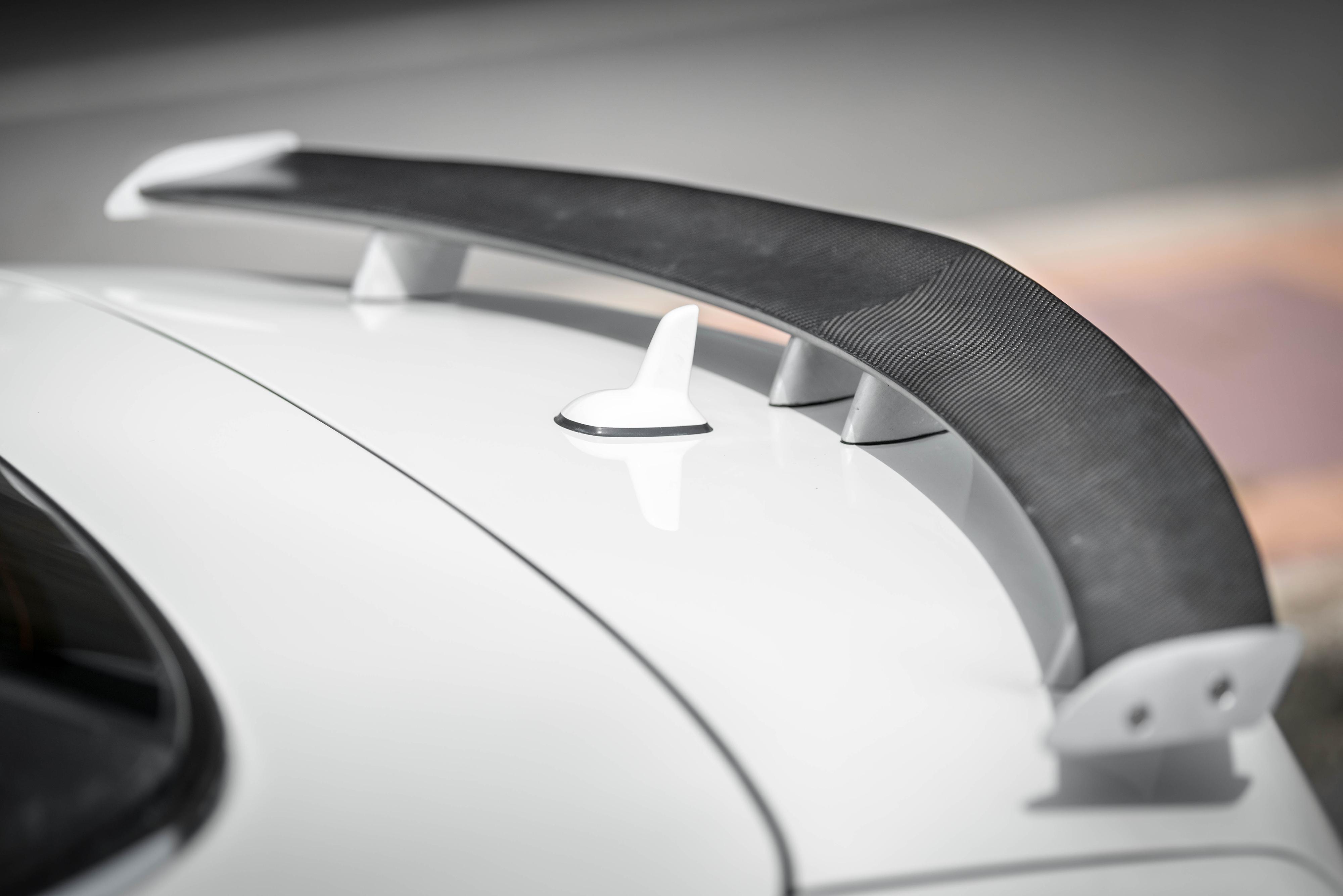 Mercedes carbon fiber rear wing