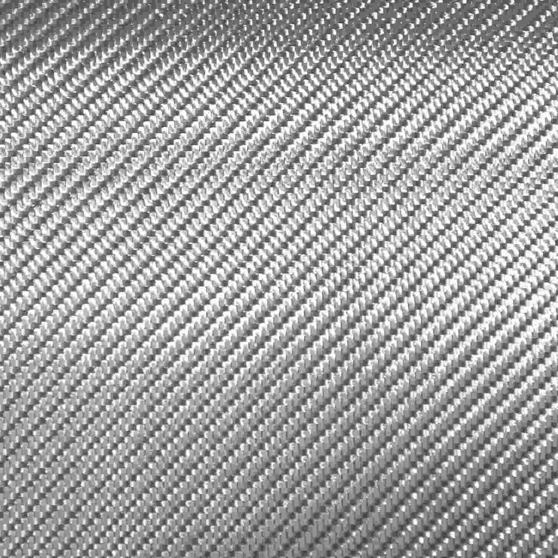 เส้นใยไฟเบอร์กลาส (Fiberglass) ที่ถักทอเป็นลักษณะคล้ายกับ 2x2 Twill Weave Carbon Fiber
