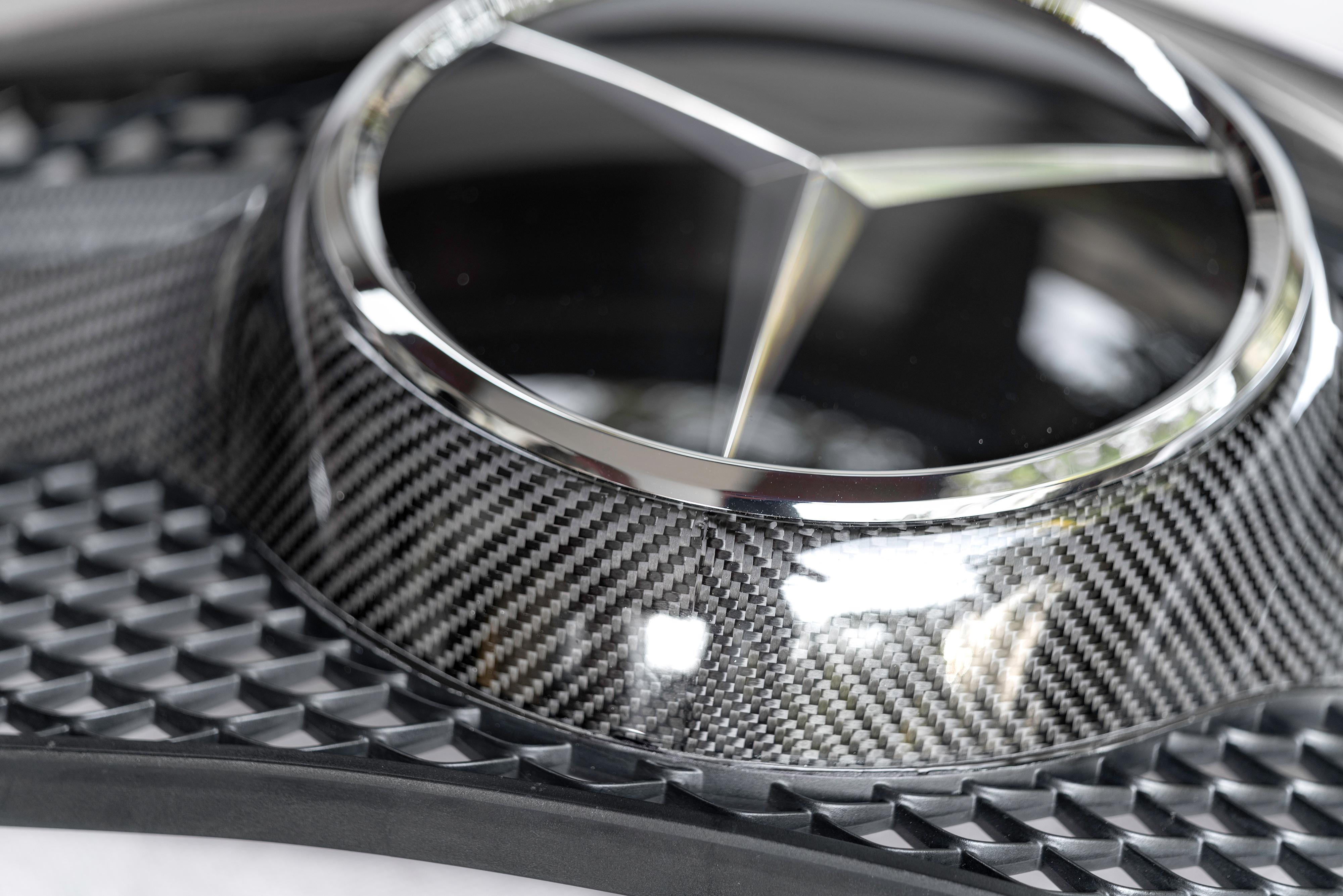 mercedes carbon fiber front grille