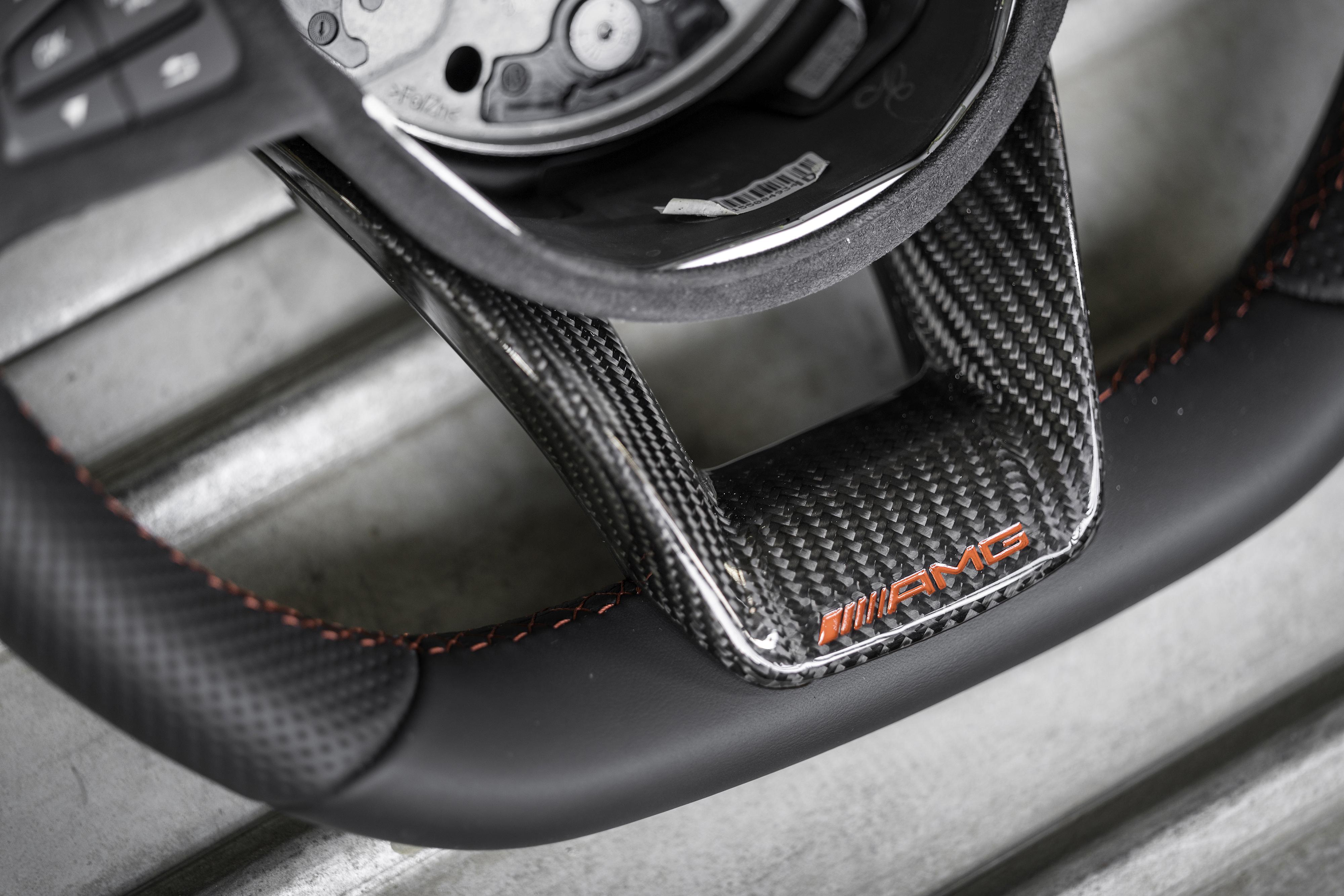 amg carbon fiber steering wheel