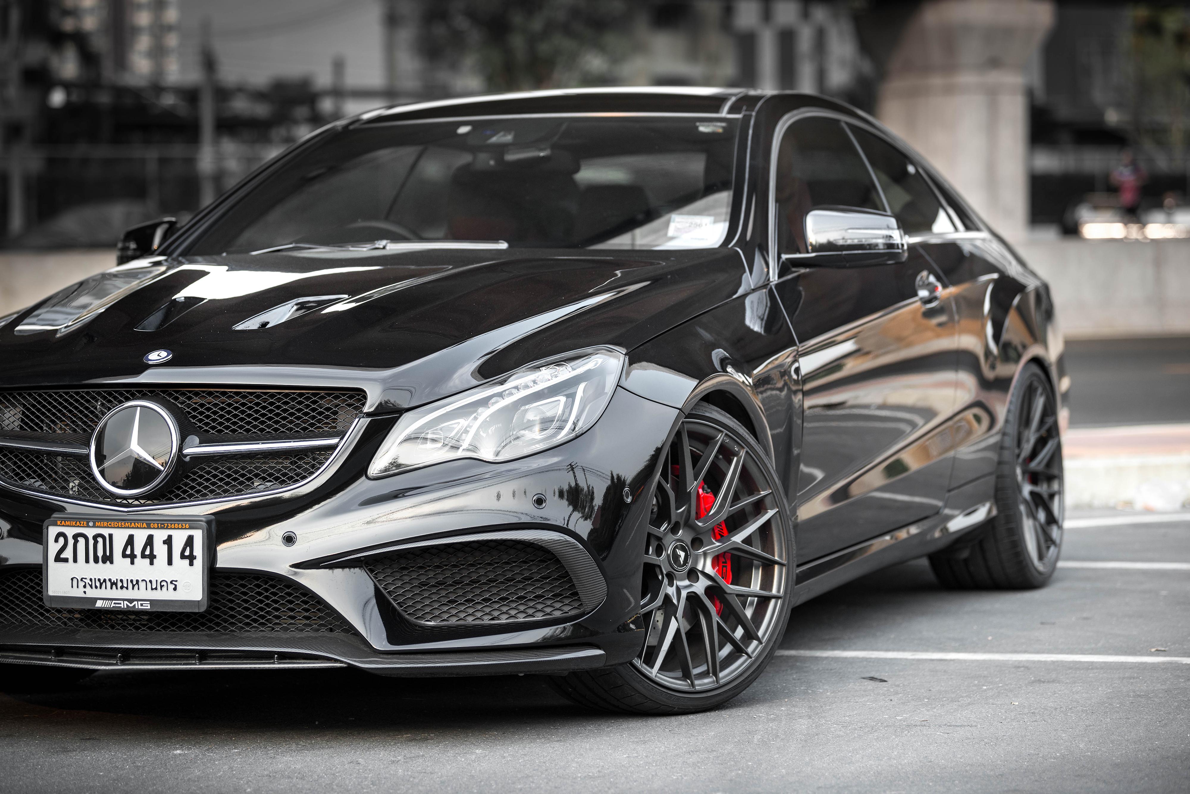 Mercedes carbon fiber front lip_5283