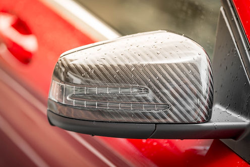 Carbon fiber side mirror