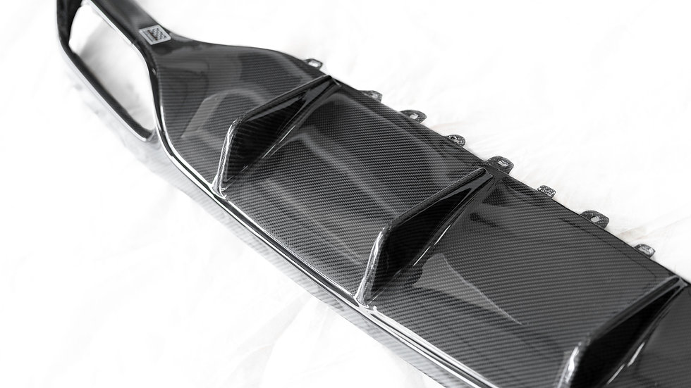 W213 E63 AMG Carbon Fiber Rear Diffuser