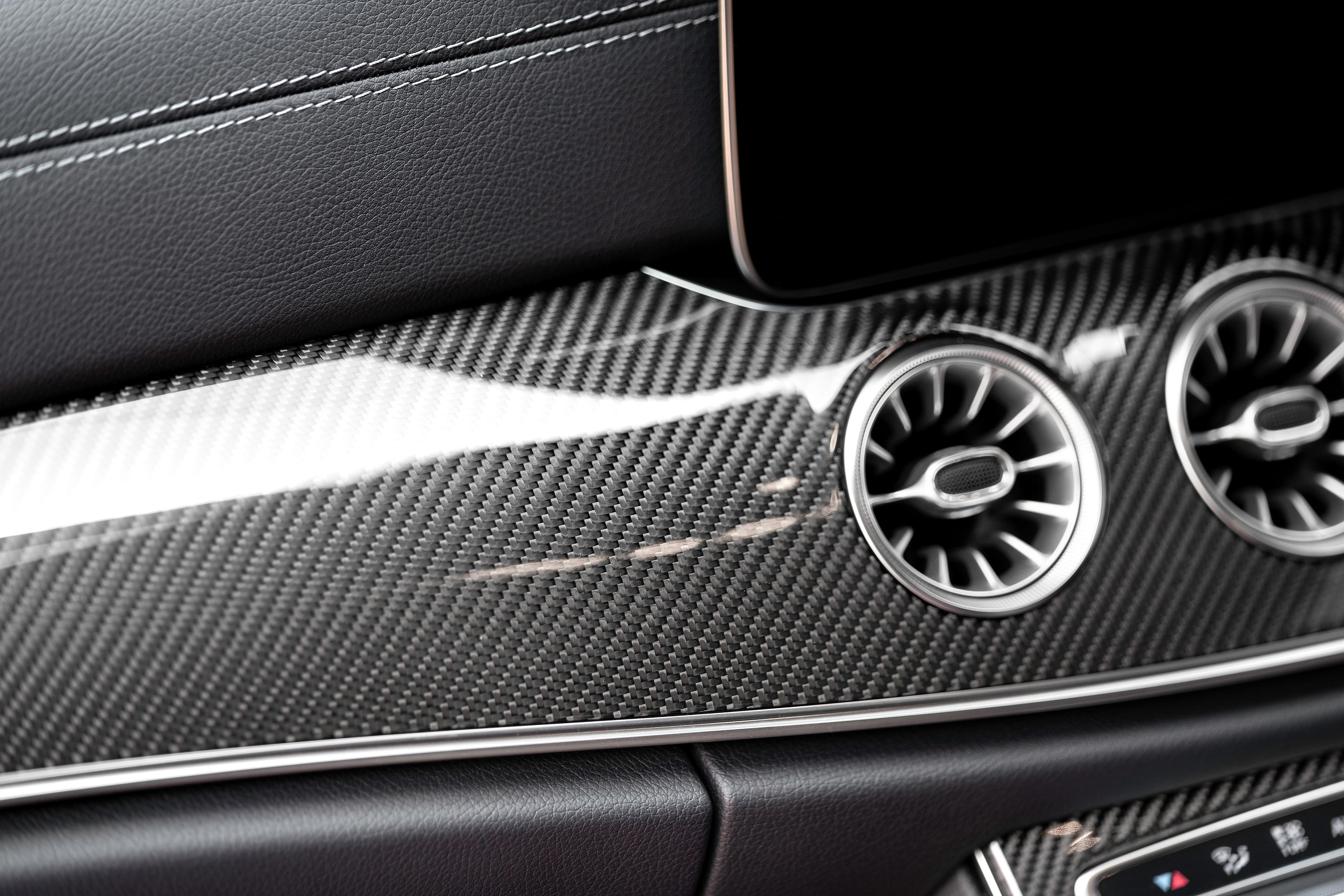 e-class carbon fiber interior trim