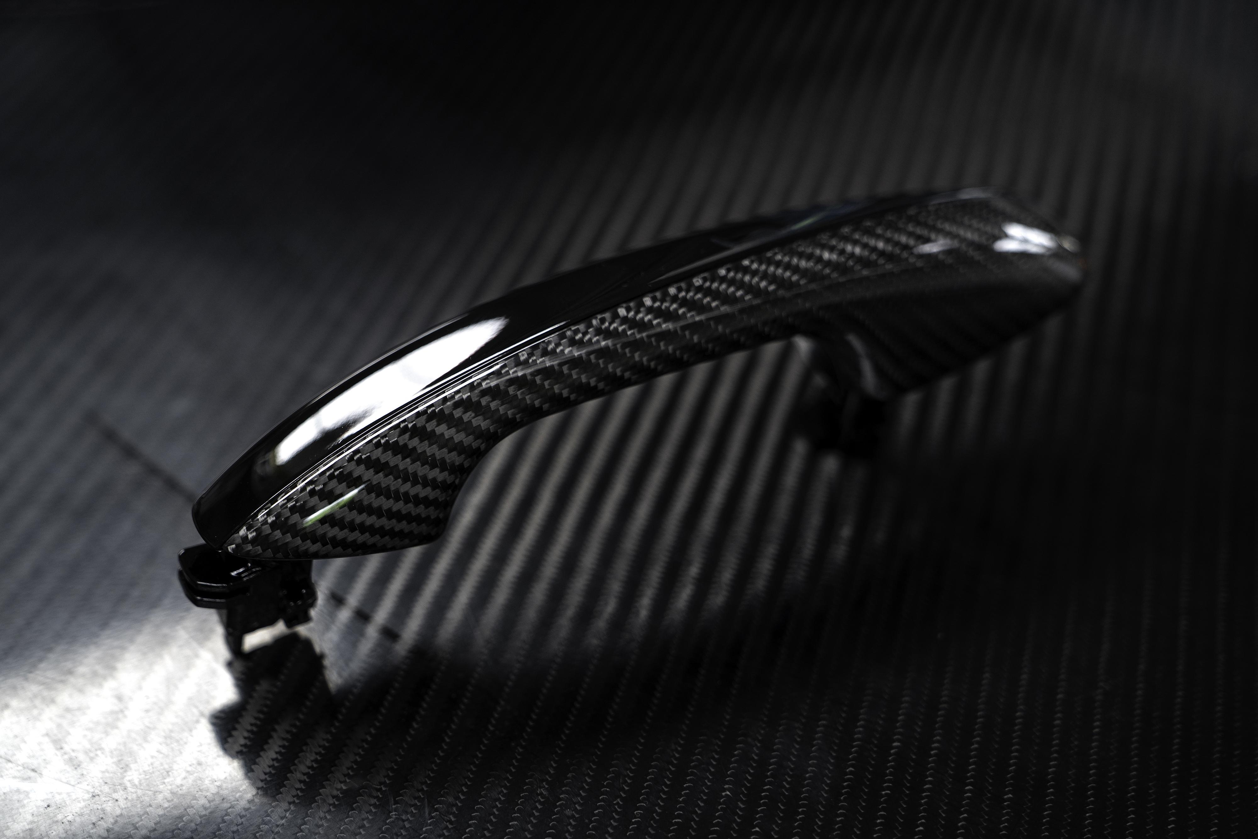 mercedes carbon fiber door handle