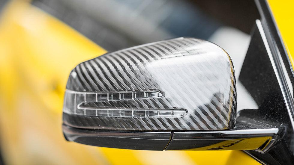 Hypercar Weave Carbon Fiber Side Mirror Housing