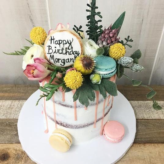 Custom drip cake for Morgan's birthday!