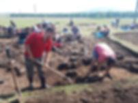 Раскопки на Банном Скифского кургана 5 в