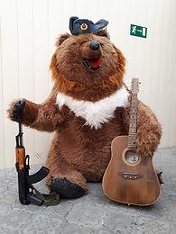 Талисман погранзаставы медведь Карацупа.