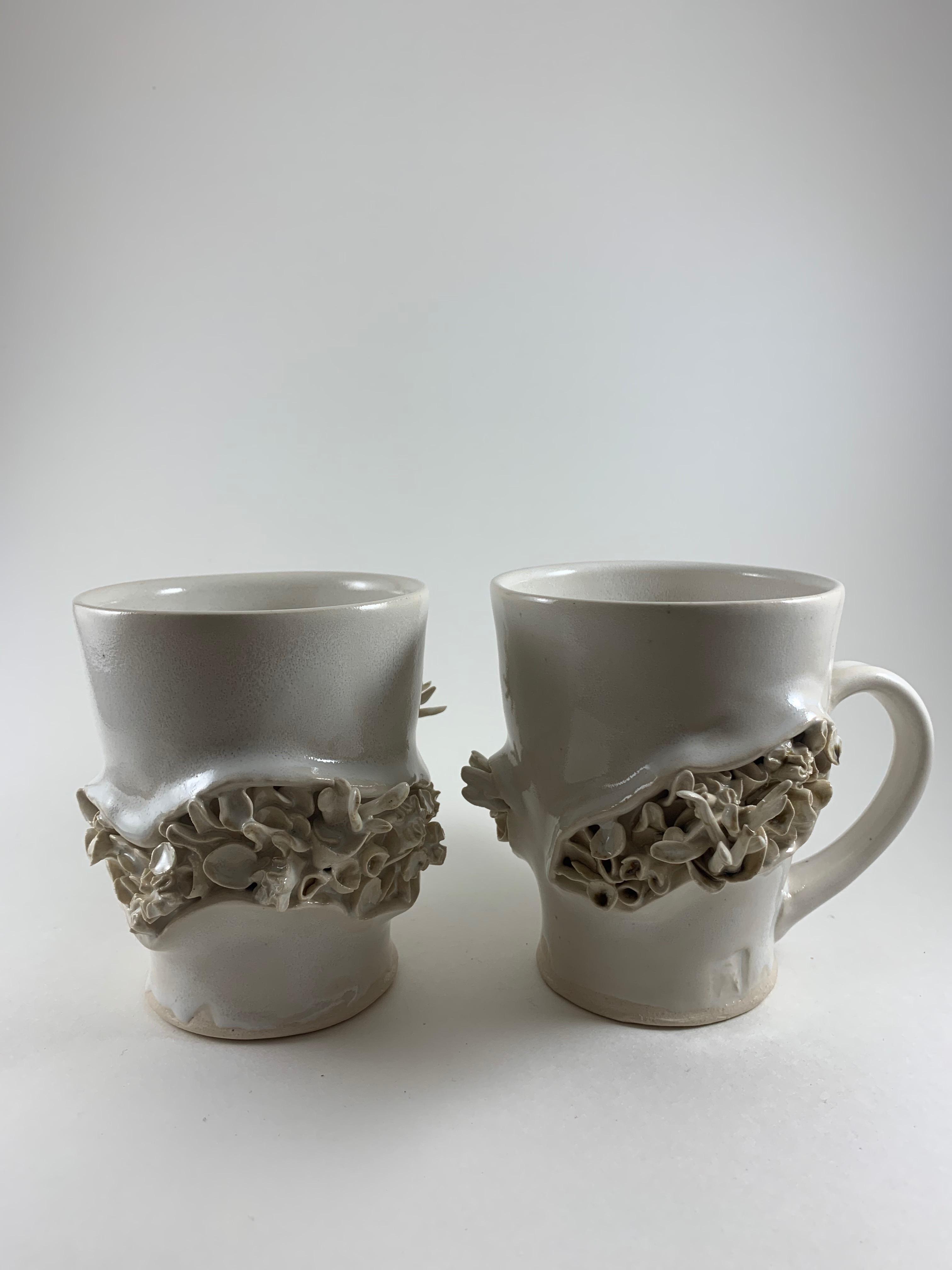 Turning White Coral Mugs