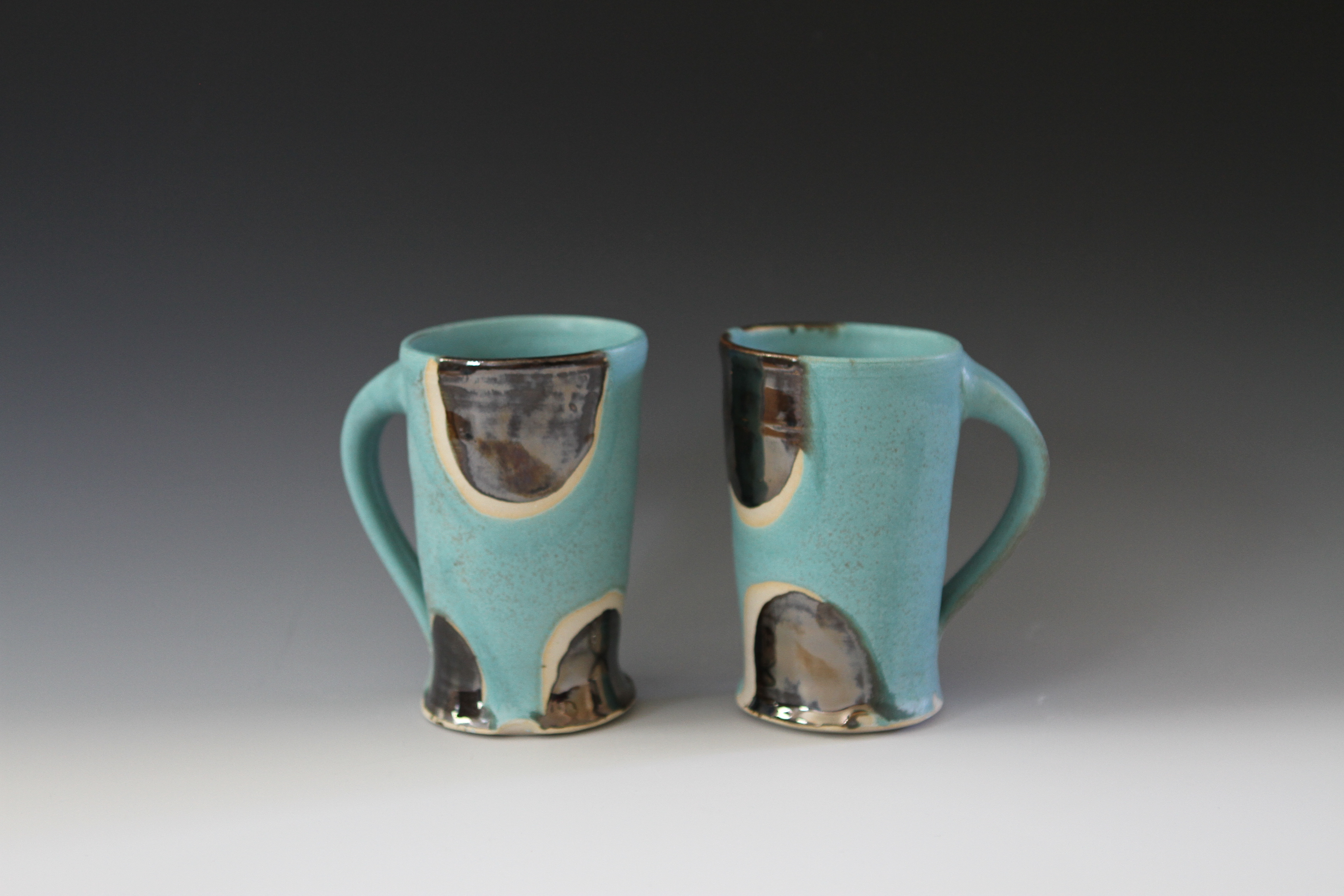 Spotted Blue Mugs