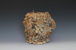 Blue Pooling Vase