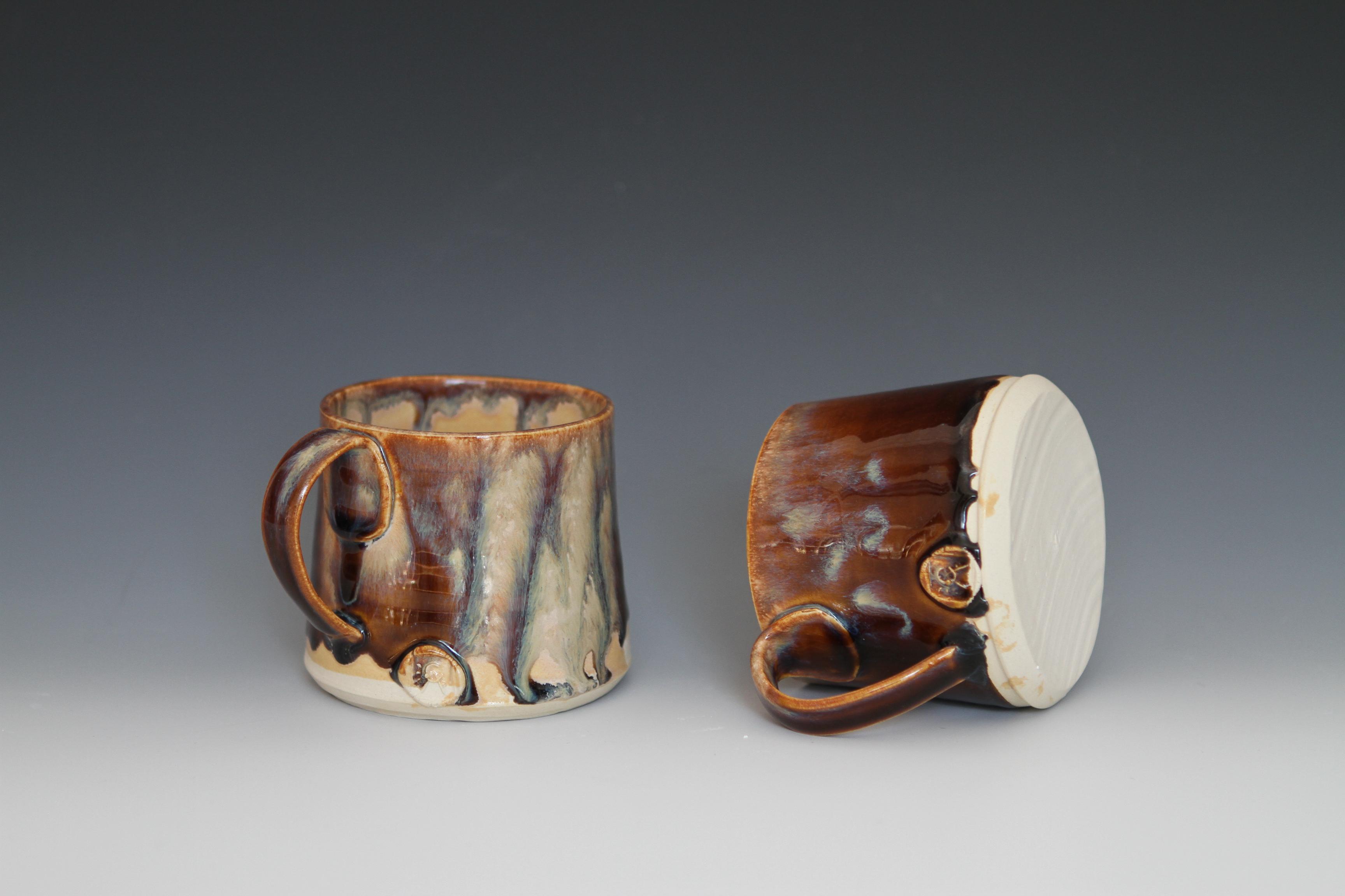 Short Brown Mugs